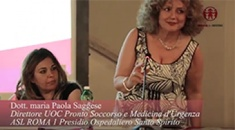 Dott. Maria Paola Saggese - Direttore UOC Pronto Soccorso e Medicina d'Urgenza ASL RM1